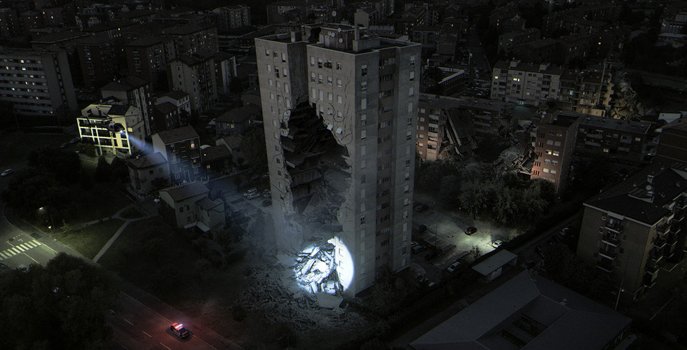 Urban Destroyed - Personal Matte Painting