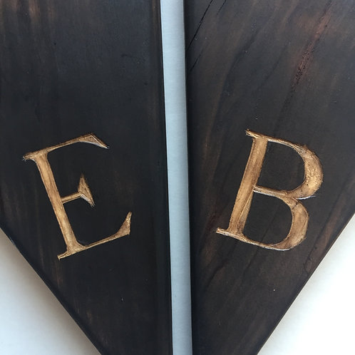 1 Personalized Carved Initial