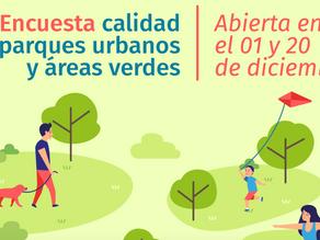 """Encuesta """"Calidad de Áreas Verdes Urbanas y Parques"""" CEDEUS"""