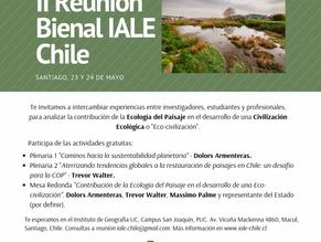 Reunión II Bienal IALE Chile