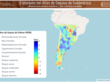 Lanzan explorador de Atlas de sequía de Sudamérica