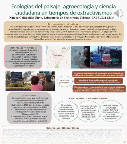 Premian video póster de colaboradora de LEU en la tercera reunión bienal de IALE Chile