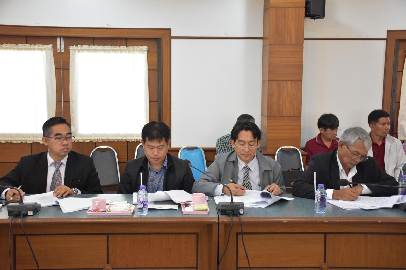ประชุมสรุปงบประมาณโครงการวิจัย5 ฝ่าย