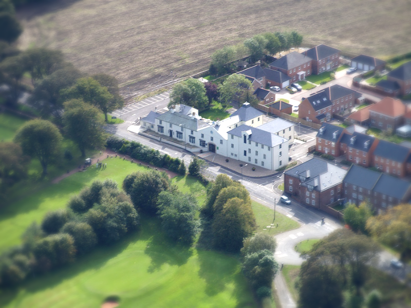 Bird's eye view of The Old Brewery