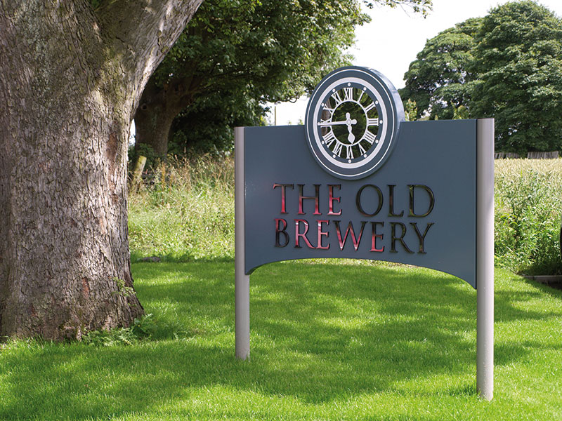 The Old Brewery sign