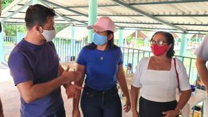 Deputada estadual Vanda Monteiro (PSL) faz visita à Santa Fé do Araguaia e Muricilândia
