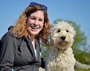 Naomi Le Voi and Bindi the Golendoodle