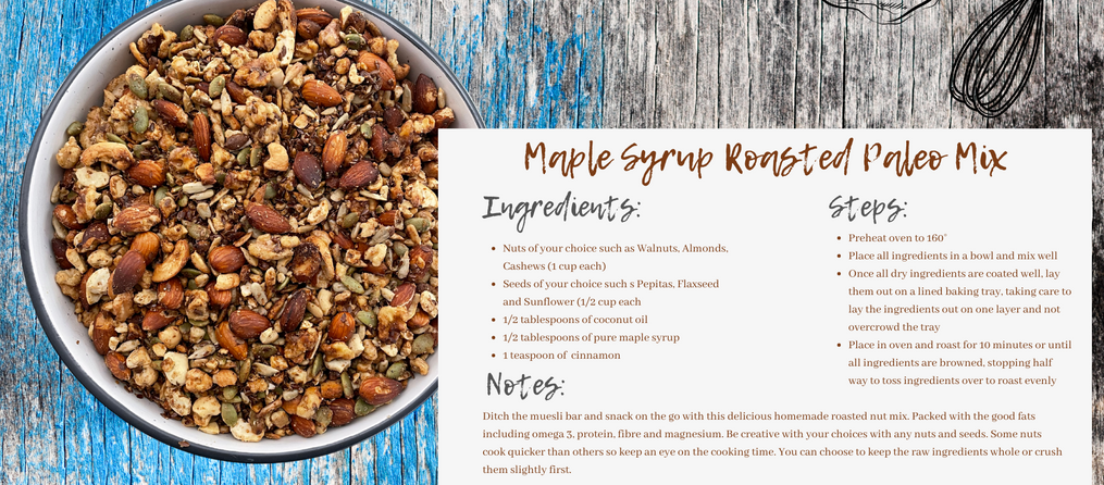 Maple Syrup Roasted Paleo Mix