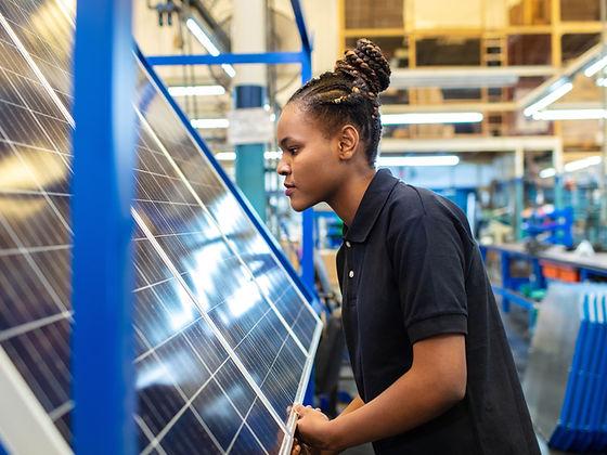 iStock-Quality engineer examining solar