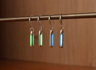 Silver Tritium Earrings!