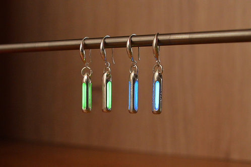 Tritium Earrings - Silver Edition