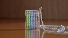 Tritium ''Quadratum'' Silver Pendant