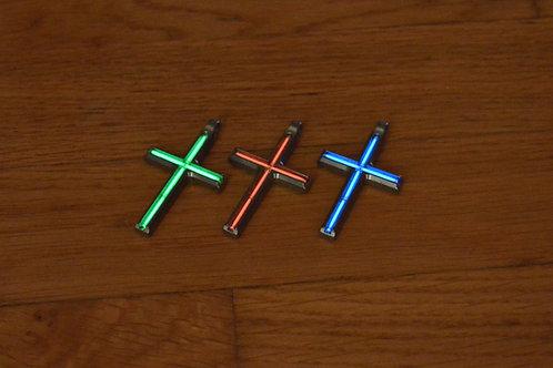 Large Tritium Cross Pendant - Titanium Edition