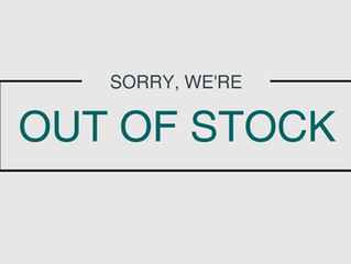 Out of stock issues.