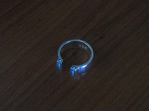 Silver Tritium ''Duo V2'' Ring - Custom Size
