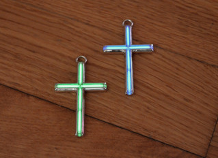Large Tritium Cross in sterling silver