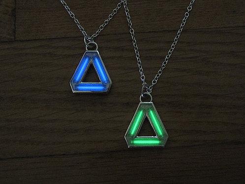 Tritium ''Delta'' Pendant - Silver Edition