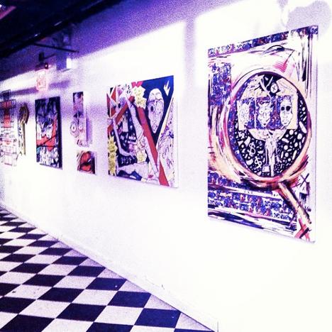 Artwork Featured at WIP nightclub Soho New York City