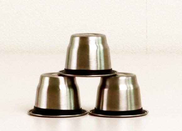 3 capsules réutilisables (inox)