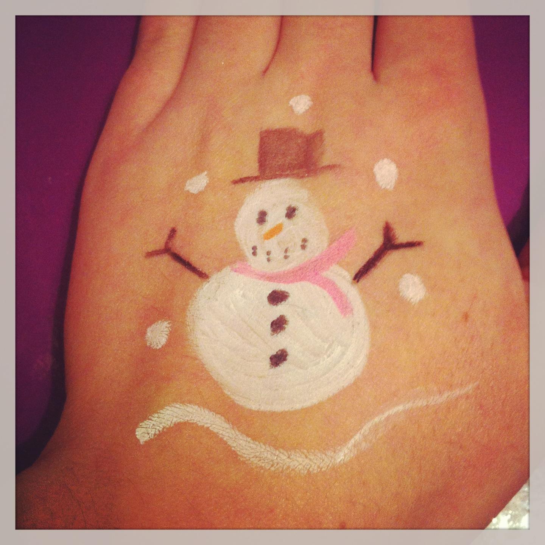 Snowman facepaint
