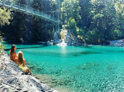Blue Pools, Haast, NZ | Credit: @liinnij // Instagram
