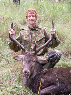 Jack Pianta inspired everyone with his determination, taking this old 3x4 for his first red stag