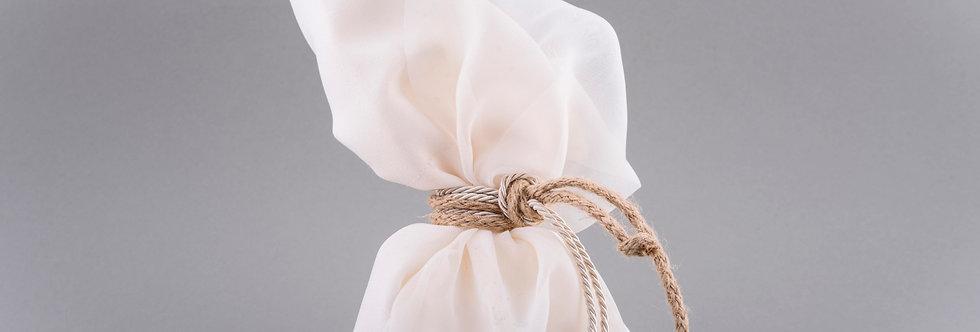 Μπομπονιέρα γάμου πουγκί με δέσιμο κορδόνι