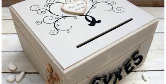Ξύλινο ζωγραφιστό κουτί για ευχές