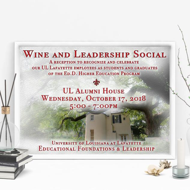 Emerald City Digital | EDFL Wine & Leadership Social | Flyer