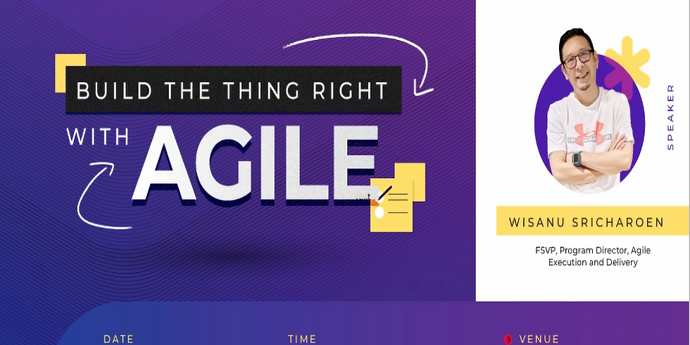 Build the thing right with Agile (Online)