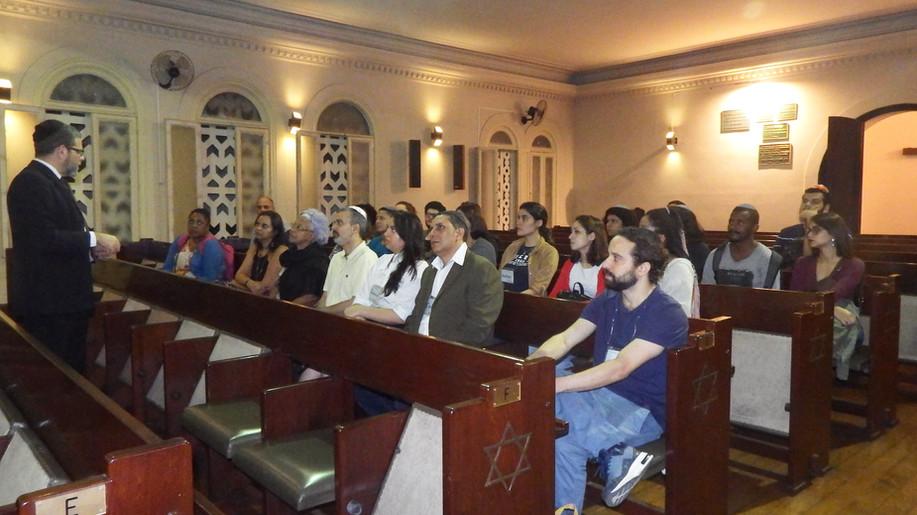 Palestra inicial com o Prof. Dr. Edgard Leite, diretor do Grande Templo.