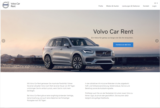 Volvo Car Rent