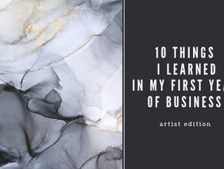10 THINGS I LEARNED IN MY FIRST YEAR OF BUSINESS