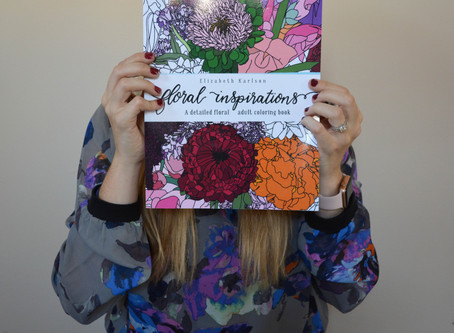 Floral Inspirations: A detailed floral adult coloring book