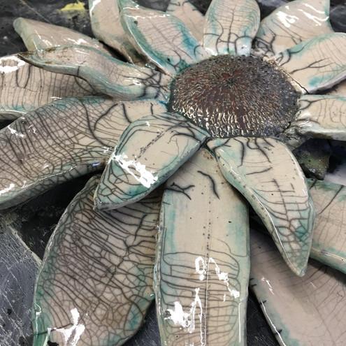 Raku Sunflower