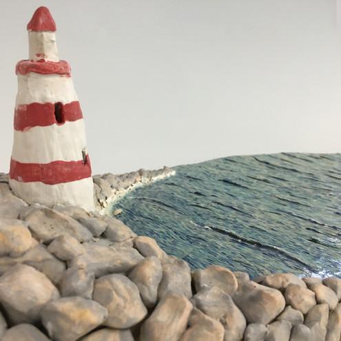 Detail of Lighthouse Landscape