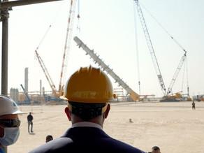 رئيس الوزراء العراقي يدشن أضخم برج لإنتاج الغاز في العراق