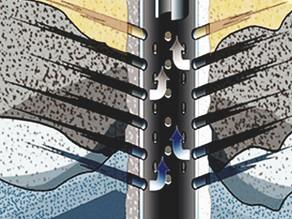 كيف تتشكل المخاريط المائية عند إنتاج النفط