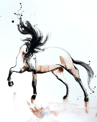 Juliet,  fine art prints for sale, watercolor, mixed media, animals, horse