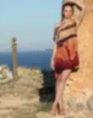Wind field, wearable art, silk dress