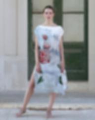 I am flower, wearable art, silk dress