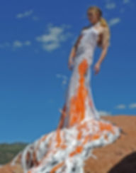 fashion installation art, recycled materials, art residency, sustainable fashion, koi, Colorad