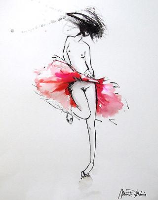 Nadia,  fine art prints for sale, watercolor, mixed media