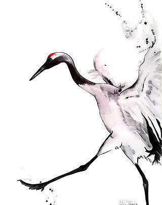 Allegra,  fine art prints for sale, watercolor, mixed media, bird, animals