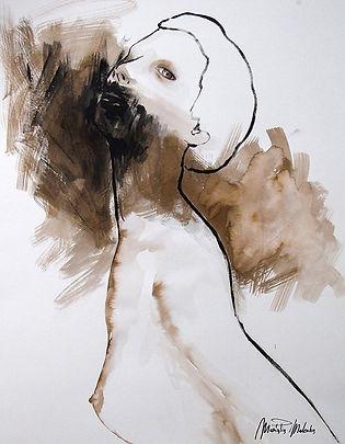 Ilenia,  fine art prints for sale, watercolor, mixed media