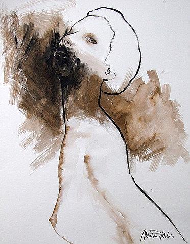 "Ilenia Watercolor & Acrylic 24""x18"""