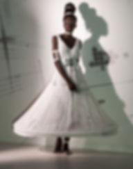 fashion installation art, recycled materials