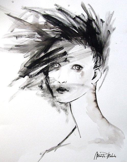 "ECLIPSE Watercolor & Acrylic 24""x18"""