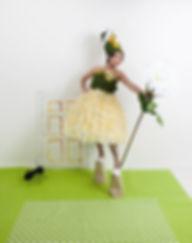 Alice in Wonderland, fashion installation art, recycled materials, plastic