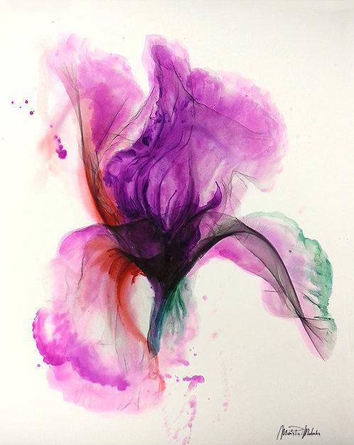 "IRIS Watercolor & Acrylic 24""x18"""